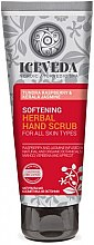 Profumi e cosmetici Scrub mani - Natura Siberica Iceveda Tundra Raspberry&Kerala Jasmine Softening Herbal Hand Scrub