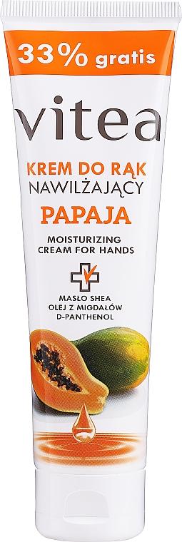 Crema mani idratante con papaya - Vitea Moisturizing Hand Cream Papaja
