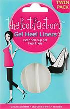 Profumi e cosmetici Cuscinetti in gel per i piedi - The Foot Factory Gel Heel Liner Twin Pack
