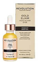 Profumi e cosmetici Elisir viso con olio di rosa canina - Makeup Revolution Rosehip Seed Oil Gold Elixir