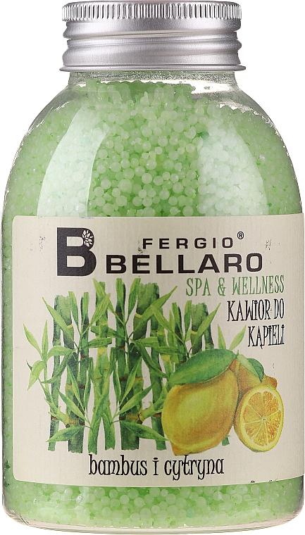 """Palline da bagno ammorbidenti """"Bambù e limone"""" - Fergio Bellaro Bamboo and Lemon Bath Caviar"""