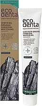 Profumi e cosmetici Dentifricio sbiancante nero biologico - Ecodenta Certified Cosmos Organic Black Whitening Toothpaste