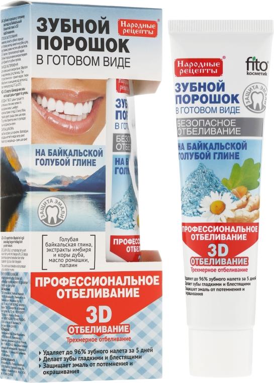 """Polvere per i denti con argilla blu di Baikal """"3D"""" - Fito Cosmetics"""