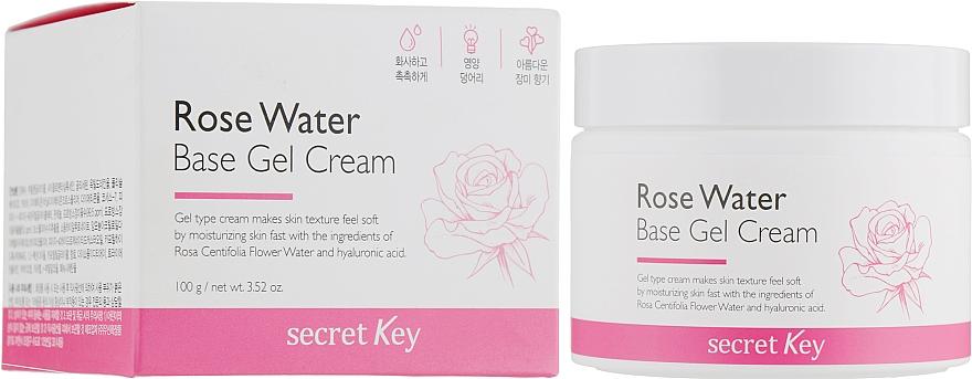 Gel-crema a base di acqua di rose - Secret Key Rose Water Base Gel Cream