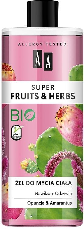 "Gel doccia ""Opuntia e amaranto"" - AA Super Fruits & Herbs"