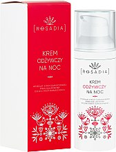 Profumi e cosmetici Crema viso nutriente da notte - Rosadia