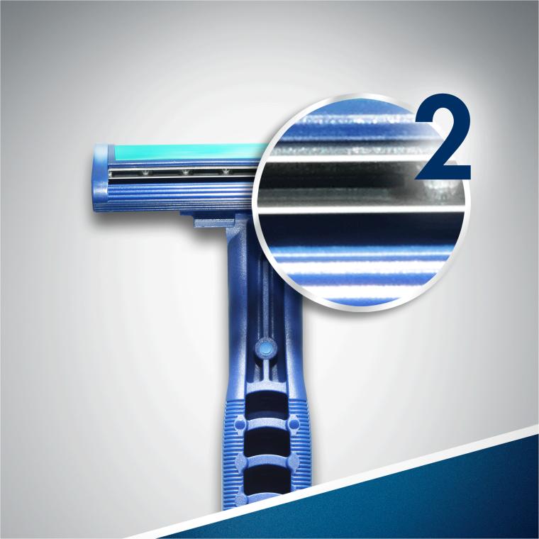 "Set rasoi ""Usa e geta"", 2pz - Gillette Blue II Plus Chromium — foto N5"