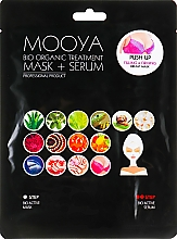 "Profumi e cosmetici Maschera + Siero ""Cura del seno"" - Beauty Face Mooya Bio Organic Treatment Mask + Serum"