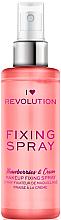 Profumi e cosmetici Spray fissaggio trucco - I Heart Revolution Fixing Spray Strawberries & Cream
