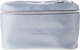 "Profumi e cosmetici Beauty case ""Leather"", 96990, grigio - Top Choice"