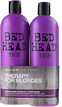 Profumi e cosmetici Set - Tigi Bed Head Dumb Blonde (shm/750ml + cond/750ml)