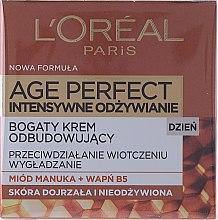 Profumi e cosmetici Crema viso, da giorno - L'Oreal Paris Age Perfect Intensive Nutrition 60+ Regenerating Day Cream