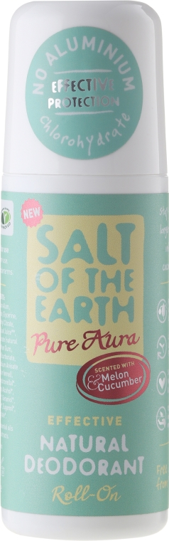 Deodorante roll-on naturale - Salt of the Earth Melon & Cucumber Natural Roll-On Deodorant — foto N1