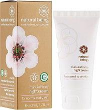 Profumi e cosmetici Crema viso, per pelli normali e secche - Natural Being Manuka Honey Night Cream