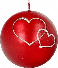 Profumi e cosmetici Candela decorativa a sfera rossa, 8 cm - Artman Forever