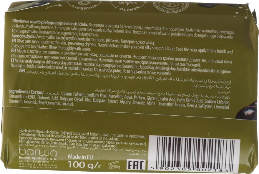Sapone con estratto di oliva e funghi Shiitake - Barwa Natural Green Olive Soap — foto N2