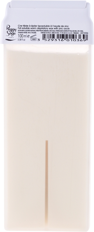 Cartuccia depilatoria con cera calda - Peggy Sage Cartridge Of Fat-Soluble Warm Depilatory Wax Blanc