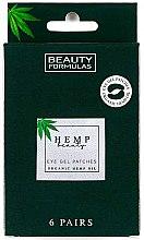 Profumi e cosmetici Patch in gel sotto gli occhi - Beauty Formulas Hemp Beauty Eye Gel Patches