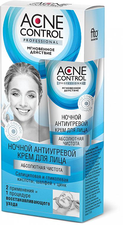 """Crema viso da notte """"Purezza assoluta"""" - Fito Cosmetic Acne Control Professional"""