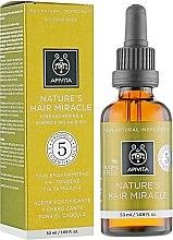 Profumi e cosmetici Olio naturale rinforzante per capelli - Apivita Nature's Hair Miracle