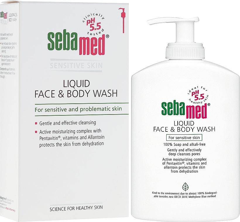 Lozione detergente viso e corpo con dosatore - Sebamed Liquid Face and Body Wash