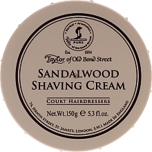 "Profumi e cosmetici Crema da barba ""Sandalo"" - Taylor of Old Bond Street Sandalwood Shaving Cream Bowl"