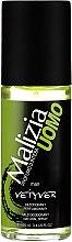 Profumi e cosmetici Deodorante profumato - Malizia Uomo Vetyver Natural Deodorant Spray