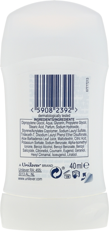 Deodorante stick - Dove Original 0% Aluminium Salts Deodorant — foto N2