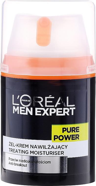 Gel-crema viso anti-imperfezioni della pelle - L'Oreal Paris Men Expert Pure Power — foto N2