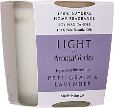 "Profumi e cosmetici Candela profumata ""Petitgrain e Lavanda"" - AromaWorks Light Range Petitgrain & Lavender Candle"