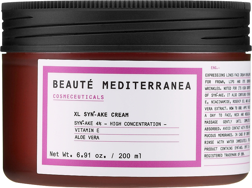 Crema viso effetto Botox - Beaute Mediterranea Botox Like Syn Ake Cream