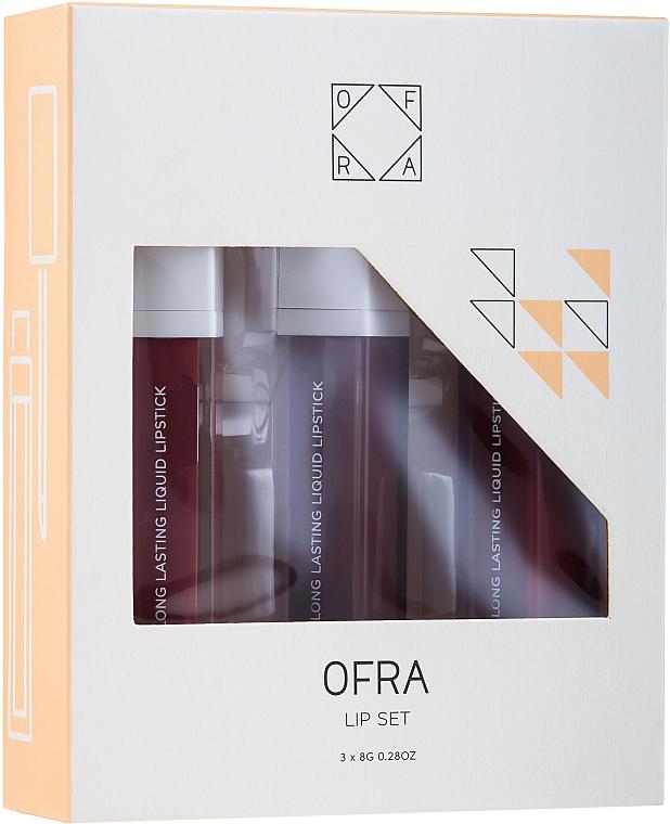 Set rossetti liquidi opachi - Ofra Espresso Lip Set (lipstick/3x8g) — foto N1