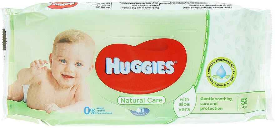Salviette per neonati Natural Care, 56 pezzi - Huggies
