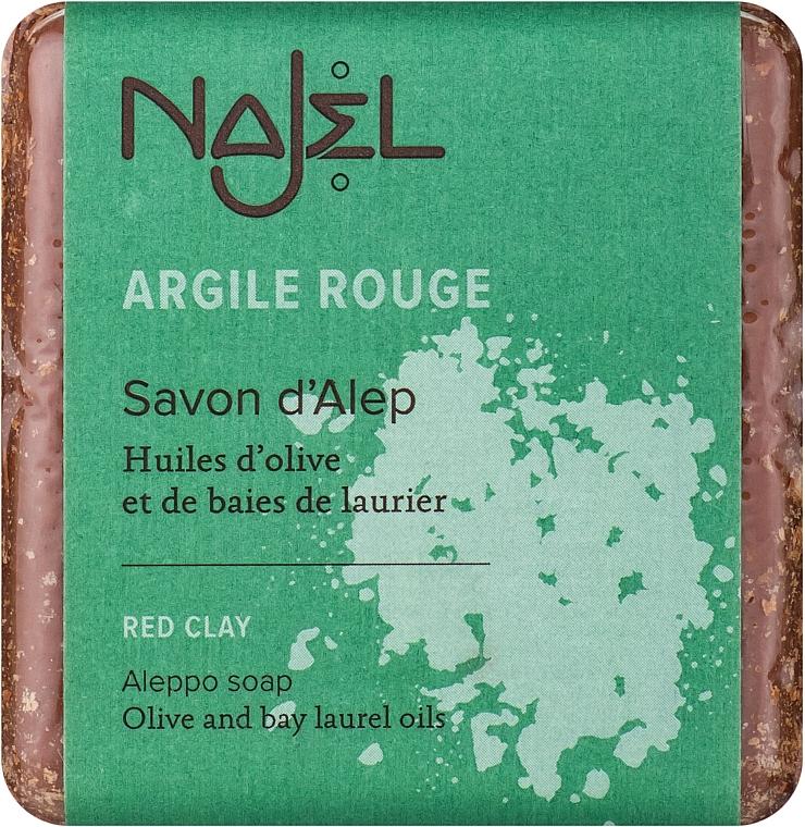 """Sapone di aleppo """"Argilla rossa"""" - Najel Aleppo Soap with Red Clay"""