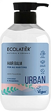"""Profumi e cosmetici Balsamo-condizionante per tutti i tipi di capelli """"Cocco e gelso"""" - Ecolatier Urban Hair Balm"""