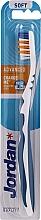 Profumi e cosmetici Spazzolino morbido Advanced senza cappuccio, blu - Jordan Advanced Soft Toothbrush