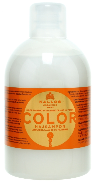 Shampoo per capelli tinti e secchi - Kallos Cosmetics Color Shampoo With Linseed Oil
