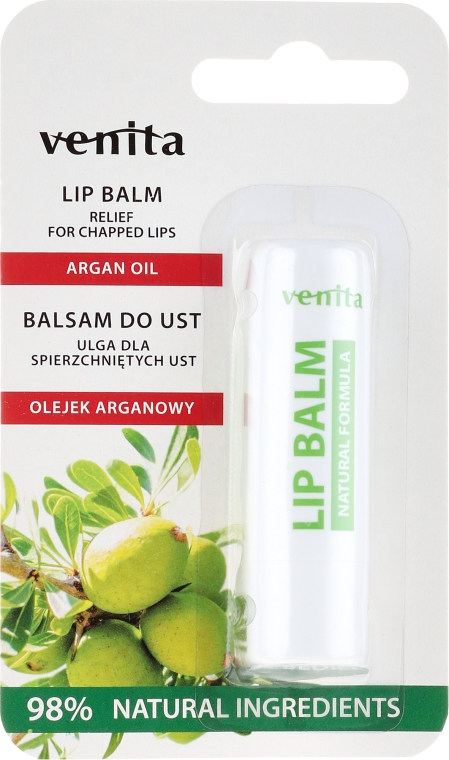 "Balsamo labbra ""Olio di argan"" - Venita Lip Balm Argan Oil"