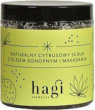 Profumi e cosmetici Scrub naturale agli agrumi con olio di canapa e macadamia - Hagi Scrub