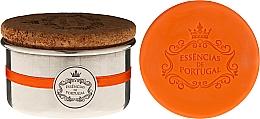 Profumi e cosmetici Sapone naturale - Essencias de Portugal Aluminium Jewel-Keeper With Cork Lid Orange