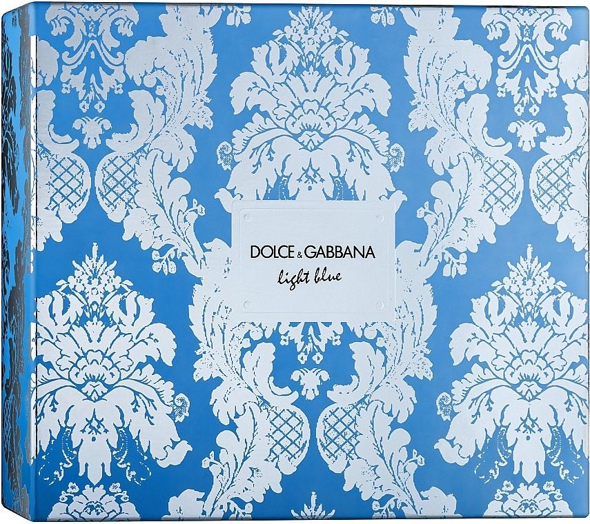 Dolce & Gabbana Light Blue - Set (edt/100ml + b/cr/50ml + edt/10ml)
