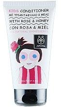Profumi e cosmetici Balsamo per bambini con rosa e miele - Apivita Babies & Kids Natural Baby Kids Conditioner With Honey & Rose Bulgarian