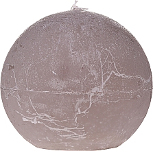 Profumi e cosmetici Candela naturale a forma di palla, 8 cm, grigia - Ringa Grey Candle