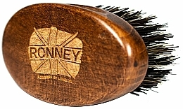 Profumi e cosmetici Pennello da barba in legno con setole naturali, scuro - Ronney Professional Barber Small Brush