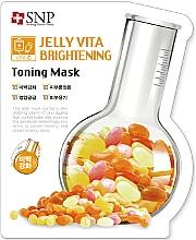 Profumi e cosmetici Maschera viso in tessuto con vitamina C. - SNP Jelly Vita Brightening Toning Mask