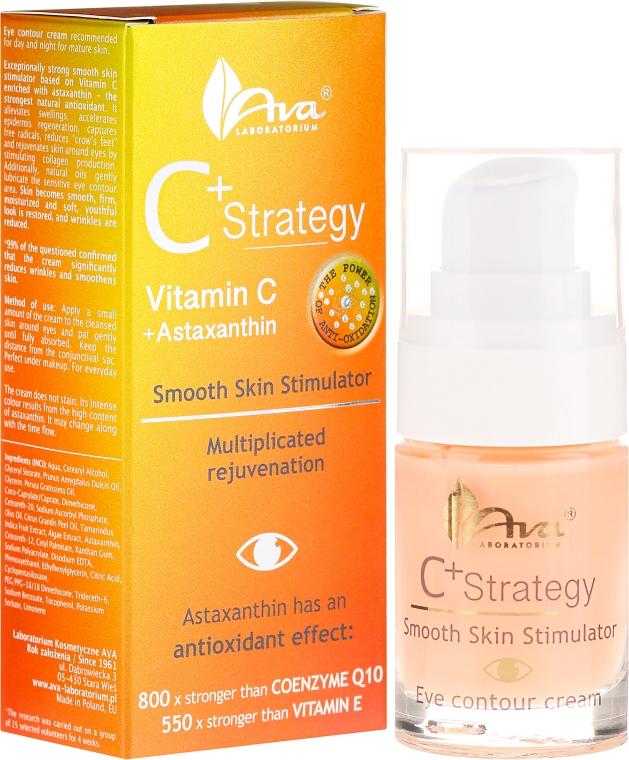 Crema contorno occhi con vitamina C. - Ava Laboratorium C+ Strategy Smooth Skin Stimulator Eye Contour Cream