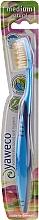Profumi e cosmetici Spazzolino da denti, medio duro, blu-azzuro - Yaweco Toothbrush Natural Medium