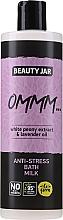 Profumi e cosmetici Latte da bagno con estratto di peonia bianca e olio di lavanda - Beauty Jar Anti-Stresse Bath Milk