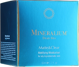 Profumi e cosmetici Crema idratante opacizzante per pelli grasse - Mineralium Dead Sea Matte & Clear