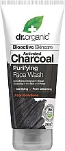 Profumi e cosmetici Gel viso detergente con carbone attivo - Dr. Organic Activated Charcoal Face Wash